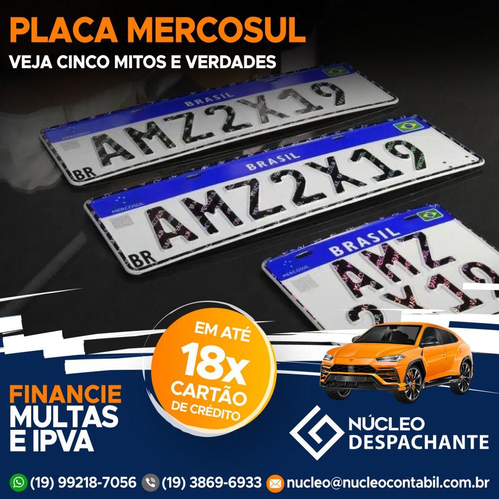 Placa Mercosul - Despachante Valinhos SP